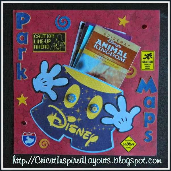 Mickey Pants, Disney map holder Layout