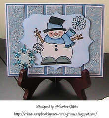 Snowman with Snowflakes #1