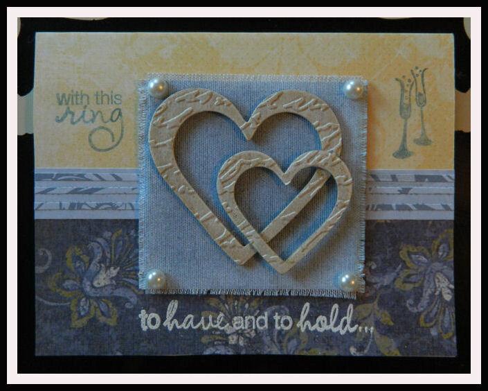 Embossed Hearts Wedding card