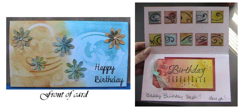 Birthday Card using Distress Inks/Cricut/Masks