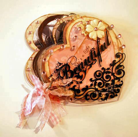 Beautiful Clear Acrylic Heart Album