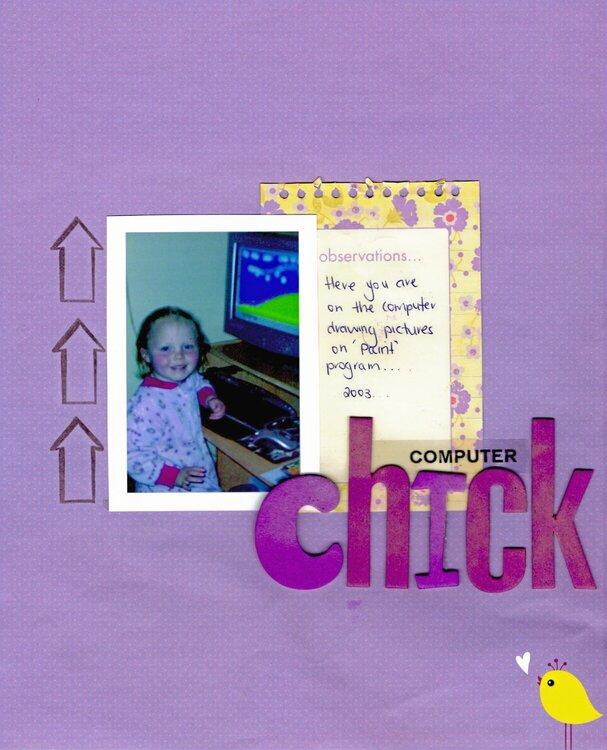computer chick