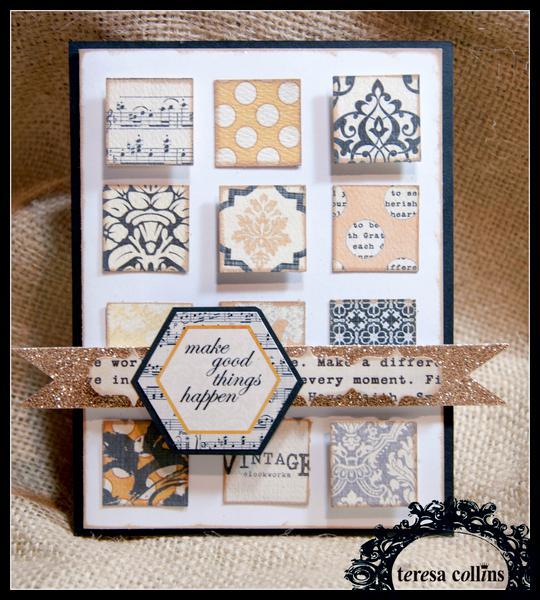 **Teresa Collins** Vintage Finds - Make good things happen card