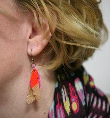 DIY Mixed Media Feather Earrings by Fiskars Designer: Stephenie Hamen