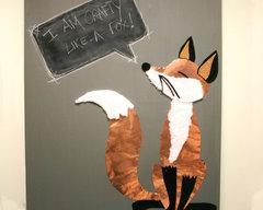 Mixed Media Fox Canvas by Fiskars Designer: Stephenie Hamen