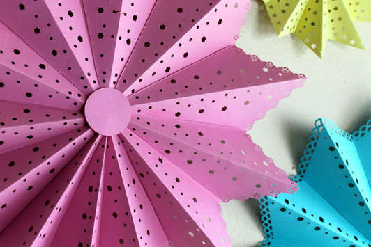Paper Lanterns featuring Fiskars Border Punches by Emma Jeffrey