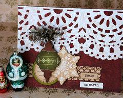 Peace on Earth Holiday Card by Fiskars Designer: Kim Garner