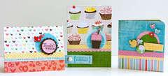 Three Fiskars Birthday Cards by Susan Weinroth
