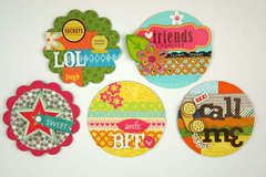 Trendy Locker Magnets using Fiskar New 4XL Punches by Tania Willis