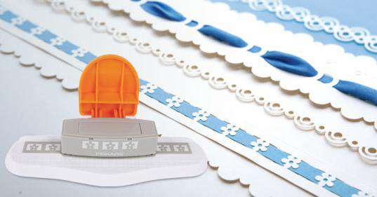 How to Weave ribbon using the New Fiskars Interchangeable Border Punches