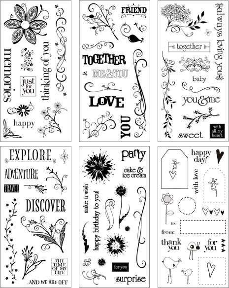 NEW Heidi Grace Designs Clear Stamps