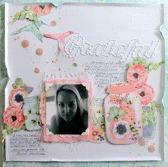 """Gratitude"" layout by Bernii Miller"