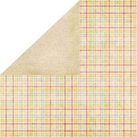 AnnaSophia Shabby Plaid double-sided paper