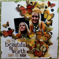 """"""" You are Beautiful"""" layout by Bernii Miller."""