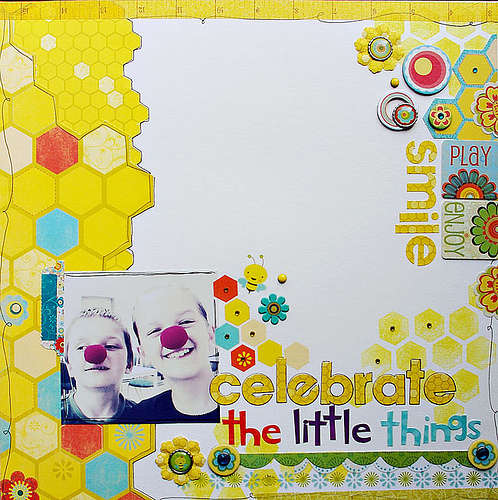 Celebrate the Little Things by Agnieszka Piskorz featuring Hello Sunshine by Bo Bunny