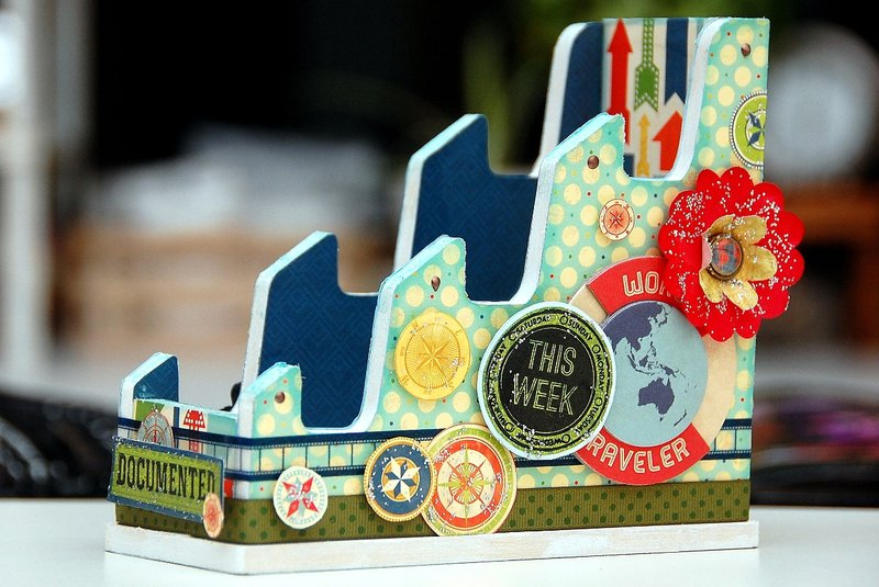 Altered Mini Album Stand by Irene Tan