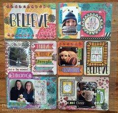 Believe Misc.Me 12x12 layout by Lynn Shokoples