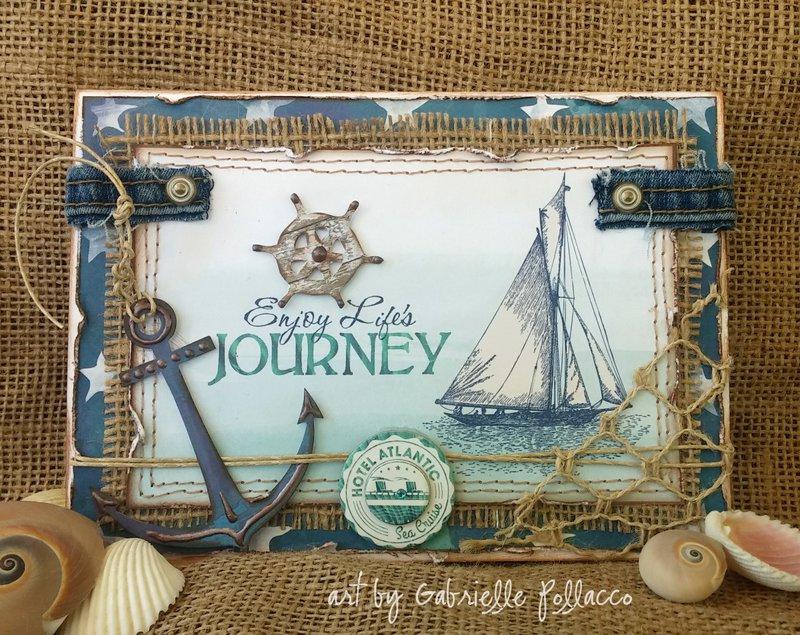 Nautical Card by Gabrielle Pollacco