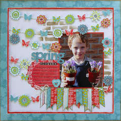 Spring Flowers by Carin McDonough featuring Alora from Bo Bunny