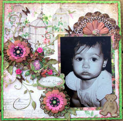 Isn't She Lovely by Debbie Sherman featuring Little Miss from Bo Bunny