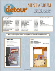 Bo Bunny Mini Album featuring the Detour Collection