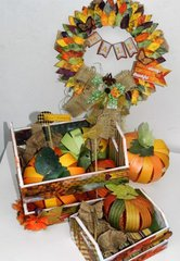 Fall Wreath and Wood Boxes by Solange Marques