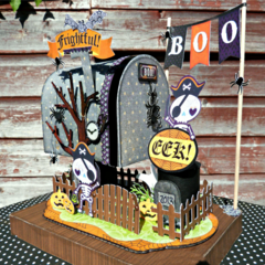 Halloween Mailbox featuring Fright Delight from Bo Bunny