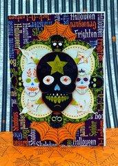 Halloween Skulls card by Agnieszka Bellaidea