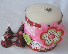 Valentine Candle Wrap