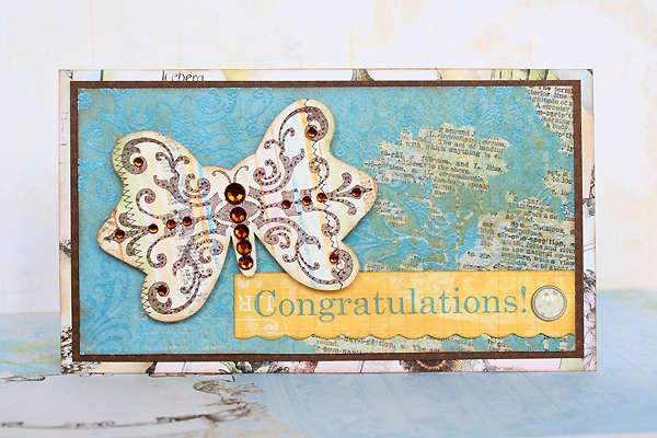 Congratulations by Juliana Michaels featuring Country Garden from Bo Bunny