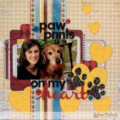 Paw Prints On My Heart by Juliana Michael