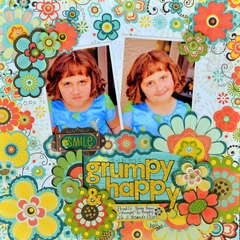 Grumpy & Happy by Julie Tucker-Wolek featuring Hello Sunshine by Bo Bunny