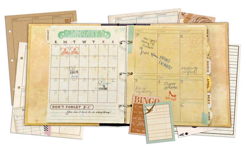 New Kraft Vintage Misc Me Calendar from Bo Bunny