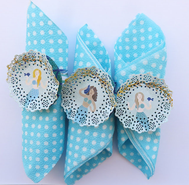 Napkin Rings with Down by the Sea
