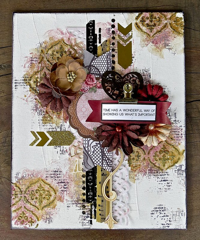 Love & Lace Canvas by Megan Gourlay