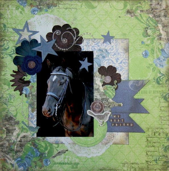 My Best Friend by Jolanda Meurs featuring Prairie Chic from Bo Bunny