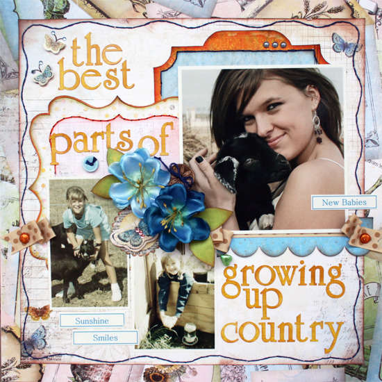 Growing Up Country by Robbie Herring featuring Country Garden from Bo Bunny