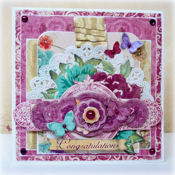 Congratulations by Romy Veul featuring the Ambrosia Collection from Bo Bunny