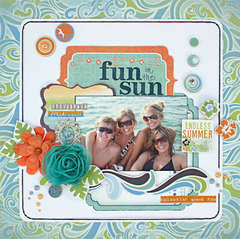 Fun in the Sun by Robbie Herring featuring Barefoot and Bliss from Bo Bunny
