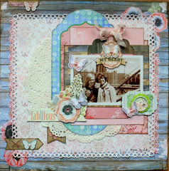 Be Fabulous Butterfly Kisses Layout