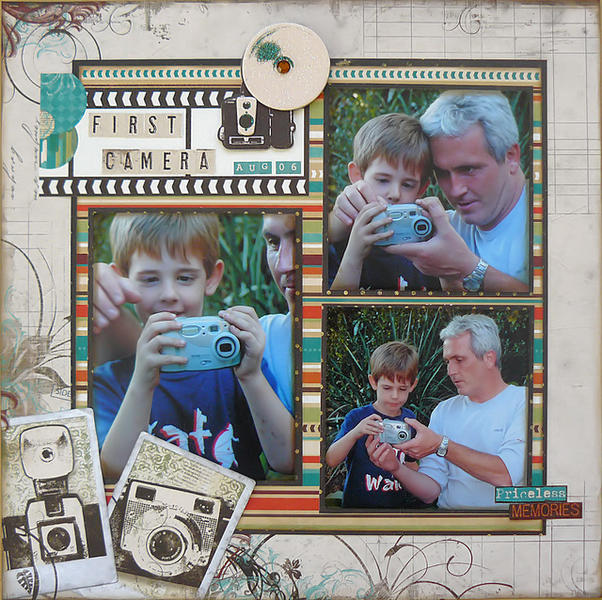 First Camera by Carin McDonough featuring Mama-Razzi2 from Bo Bunny