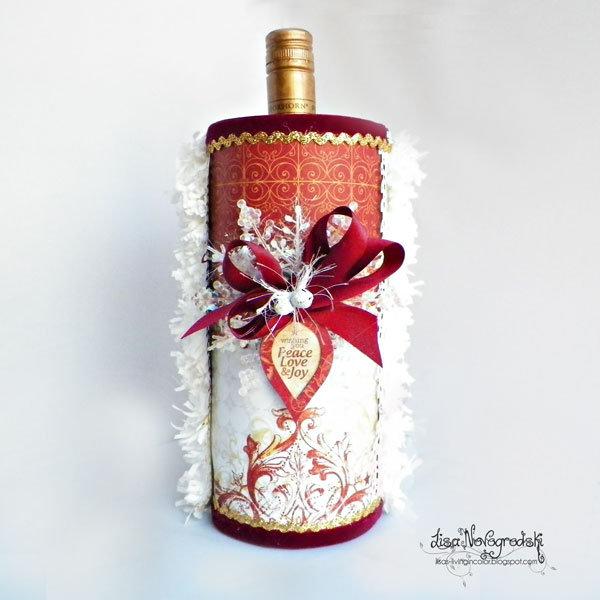 Wine Bottle Holder - Lisa Novogrodski