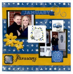 A Whole Year of Layouts featuring the new Calendar Girl Collection from Bo Bunny