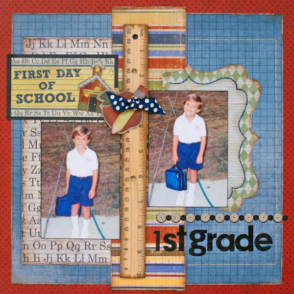 First Day of School by Robbie Herring featuring Learning Curve from Bo Bunny