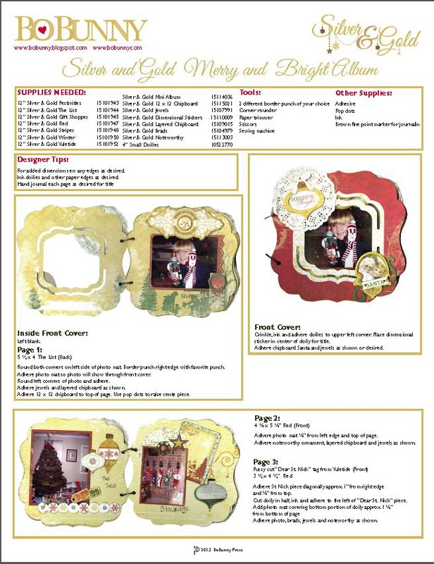 Project Instructions featuring Silver and Gold From Bo Bunny