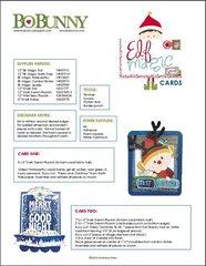 Bo Bunny Elf Magic Project Instructions