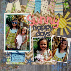 Sunny Happy Days by Sarah Eclavea featuring Bo Bunny Prairie Chic Collection