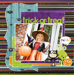 trick or treat using Whoo-ligans from Bo Bunny