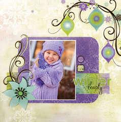 Winter Beauty using new Winter Joy from Bo Bunny1
