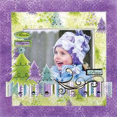 Wonder Happiness Peace using Winter Joy from Bo Bunny